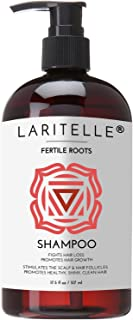 Laritelle Organic Shampoo, Fortifying, Strengthening and Rejuvenating, Stops Hair Shedding, Promotes New Hair Growth, Ayur...