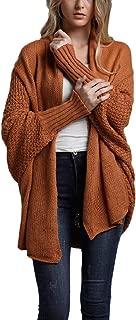 Howely Women Bat Sleeve Open-Front Loose Cardigan Knit Sweater