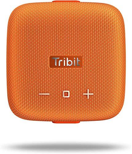 Tribit StormBox Micro Bluetooth Lautsprecher Wireless Dusch Lautsprecher Portable Mini Outdoor IPX67 Wasserdichter,8 Stunden Spielzeit,Orange