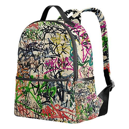 Ahomy Schulrucksack, Graffiti Bookbag Reise Groß Casual Rucksack Daypack für Jugendliche Mädchen Jungen
