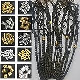 Flosius 100 PCS Iron Dreadlock Beads Metal hair jewelry...