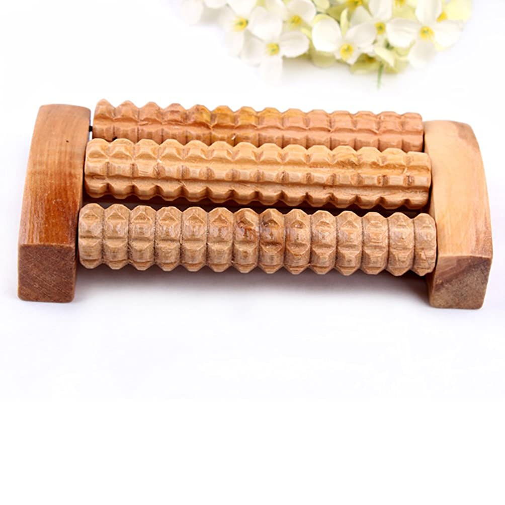 コレクション近似一リフレクソロジー、自然木製 足踏み ストレス解消 リラックス 足裏健康器具、足の痛み お風呂 血行促進 (3列)