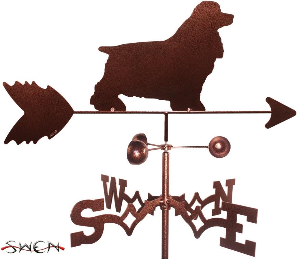 SWEN Products Hand Made Cocker Spaniel Dog Garden Stake Weatherv