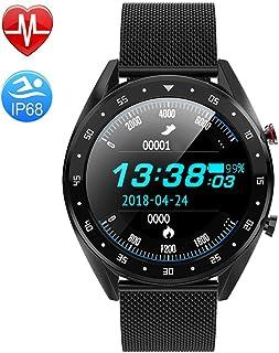 Reloj Inteligente, IP68 Reloj Impermeable Rastreador de Ejercicios Ritmo cardíaco Presión Arterial Monitoreo del sueño Pulsera Inteligente Bluetooth Recordatorio Inteligente