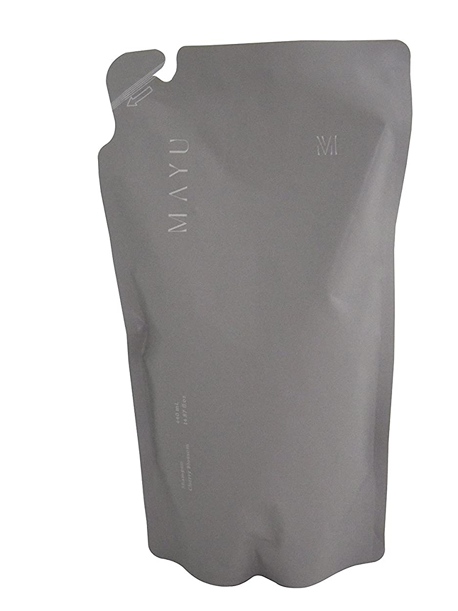 ファブリック範囲塩辛い【365Plus】 MAYU さくらの香りシャンプー リフィル(440ml) 1本入り