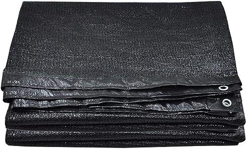 ATR Pare-Soleil Noir épaissir polyéthylène Trou métallique fenêtre fenêtre Toit extérieur ombrage RefroidisseHommest Tissu 10 Tailles