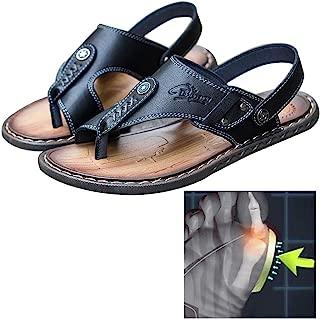 Tallas Grandes Sandalias de Piel para Hombre Xposed Caminar Talla 47 EU para Verano con Correa para los Dedos Abiertos Color Negro Playa