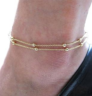 Gioielli del sandalo del piede della spiaggia della catena del braccialetto della caviglia del cuore di modo della ragazza