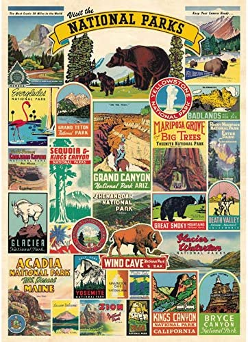 Visit The National Parks 1000 Pieces Puzzles for Adults Jigsaw Puzzle Artwork Style Gifts DIY product image