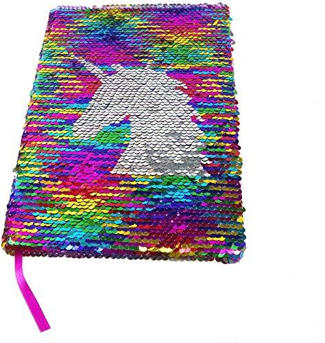 Maygone Einhorn Pailletten Notizbücher Tagebuch Mädchen Mermaid Unicorn Sequins Notebooks Darly Journal für Kinder Erwachsene Mädchen Tochter