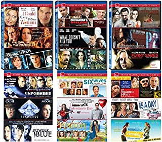 eOne Films 18 Movie Pack (DVD) [Funny Games, P2, After Life, Maiden Heist, $5 a Day, Sunshine Cleaning, Six Wives, I Hate Valentine`s Day, Penelope, Flawless...]
