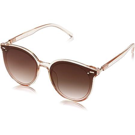 SOJOS Klassisch Retro Runde Sonnenbrille Damen Herren Groß Brille BLOSSOM