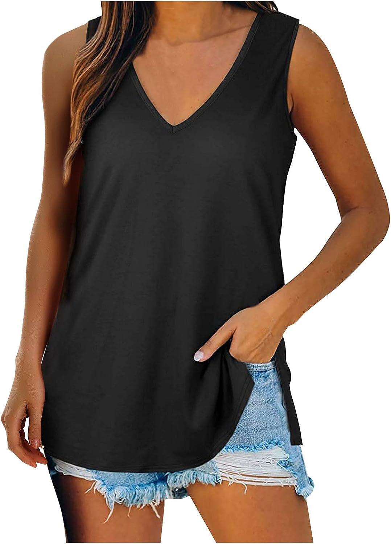 Women Lady Fashion Sleeveless O-Neck Printing Blouse Tops T-Shirts Tunics Tee