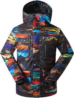 GsouSnow Men's Waterproof Windprooof Winter Outdoor Hooded Ski Jackets Warm Snow Down Insulated Coat Snowboarding
