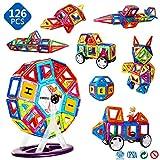 Magblock磁性体の玩具 マグネットブロック 磁気おもちゃ 子供の誕生日プレゼント 磁石ブロック 子供 知育玩具 立体パズル 積み木 ブロック おもちゃ 想像力と創造力を育てるSTEMおもちゃ超磁力 色が多彩である 幼児は智玩具を育てる (日本語マニュアルを含む) …