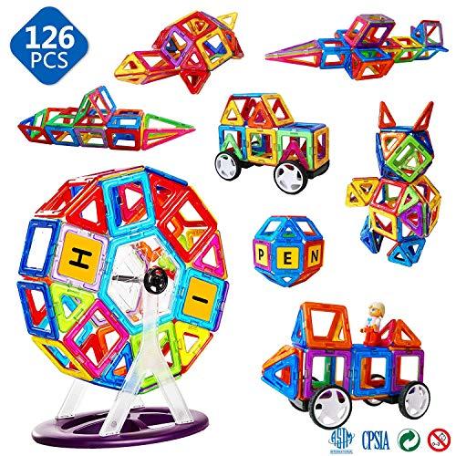Magblock磁性体の玩具 マグネットブロック 磁気おもちゃ 子供の誕生日プレゼント 磁石ブロック 子供 知育玩...