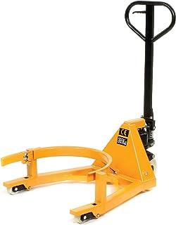 Portable Hydraulic Drum Jack, Steel, 800 Lb. Cap, Yellow