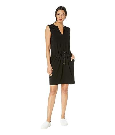 Lilla P Tie Waist Dress (Black) Women
