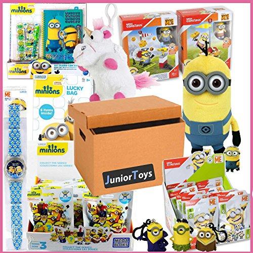 JuniorToys Spielwaren und Lizenzartikel Ideal als Wurfmaterial für Karneval, Tombola oder Mitgebsel für den Kindergeburtstag (Minions Edition)