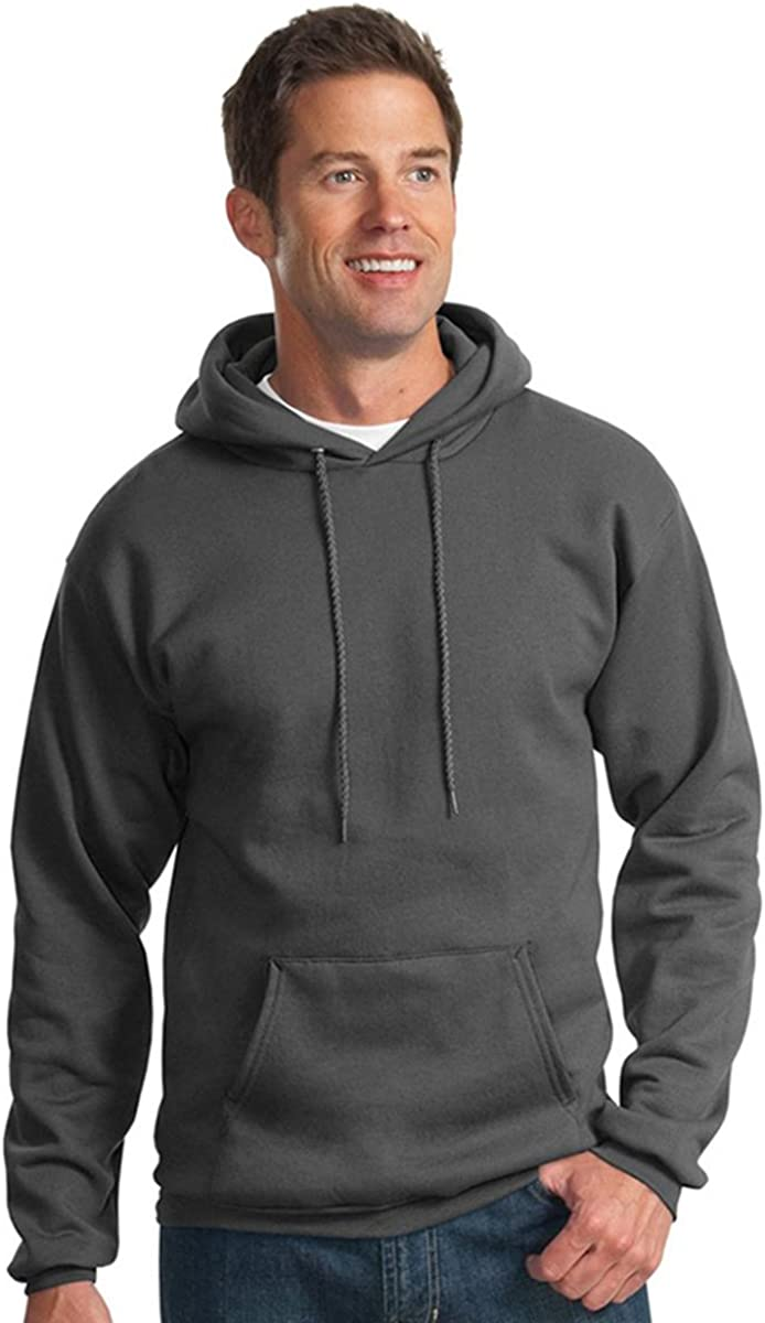 Port & Company Men's Big And Tall Pullover Hooded Sweatshirt_Charcoal_2XLT