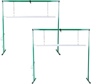 iPower GLLEDXJMPS4FX2 2-Pack 36W 4 Feet LED Light Stand Rack for Seed Starting Plant Growing The Only Isolated Driver Design for Safety Assurance, Green