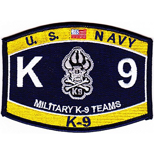 MOS K-9 Team Navy Patch