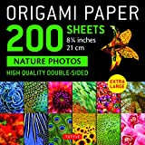 """Origami Paper 200 sheets Nature Photos 8 1/4"""" (21 cm): High Quality Double-Sided Origami Sheets Printed with 12 Photographs (Instructions for 6 Projects Included) (Stationery)"""