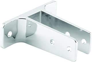 Sentry Supply 650-4021 2 Ear Urinal Wall Bracket, for Panel size 1 inch, Chrome Plated Zamak, Pack of 1