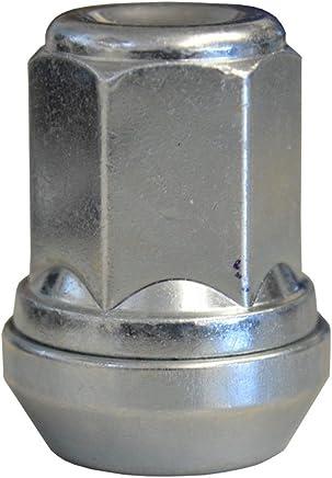 EvoCorse Goujon de roue /à t/ête M12x1.5 4 pcs Blanc galvanis/é Longueur 47 mm Collerette molet/ée 14.3 mm