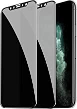 Fotbor Compatible with iPhone 11 Pro / iPhone XS / X Screen Protector Privacy Tempered Glass Film, Anti Spy/Glare/Scratch Full Coverage Shield for Apple iPhone 11 Pro / iPhone XS / X 5.8 Inch, 2 Pack