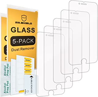 [5-Pack]-Mr.Shield for iPhone 7 Plus/iPhone 8 Plus [Tempered Glass] Screen Protector with Lifetime Replacement
