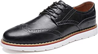 Mens Oxford Business Lace Up Loafers Casual Classic Modern Dress Walking Shoes Black