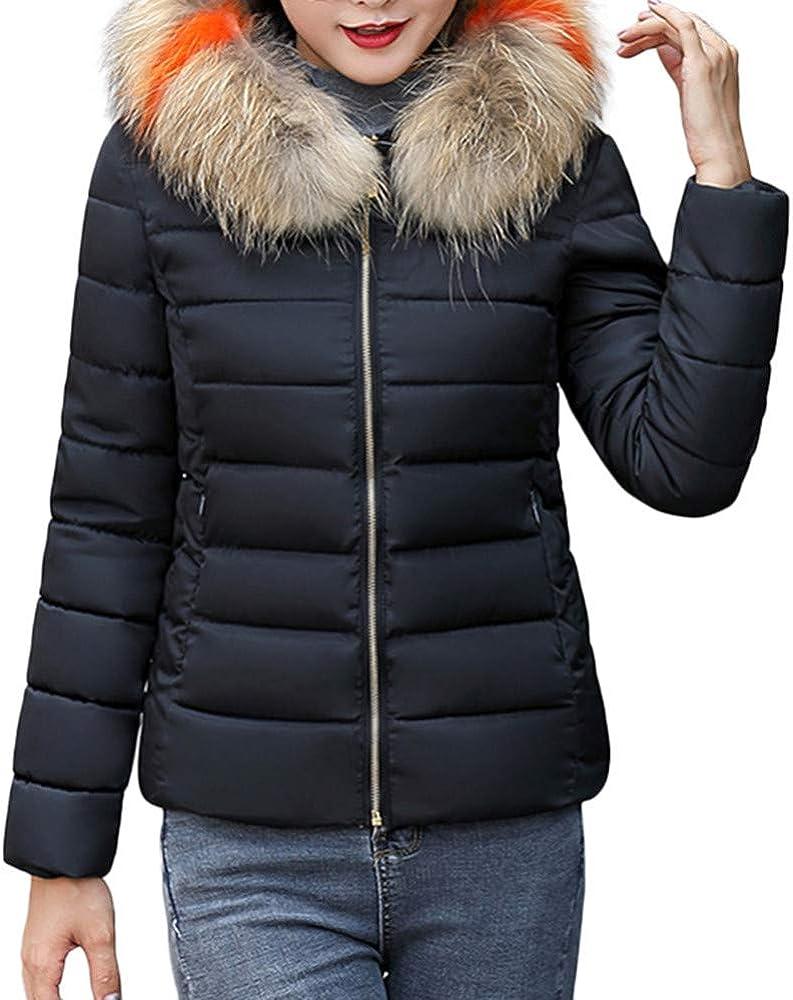 TIMEMEANS Coats Jackets for Women Winter Warm Faux Fur Coat Outwear Thick Warm Jacket Overcoat