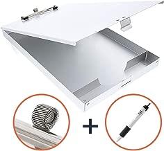 Aluminum Clipboard Heavy Duty Metal   Latched Closure Storage Case Box   Pen Holder + Free Bonus Pen Included Contractor EMT Nurse Favorites