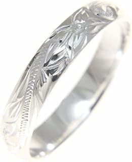 Sterling Silver 925 Hawaiian Plumeria Scroll 4mm Band Ring Size 1-12