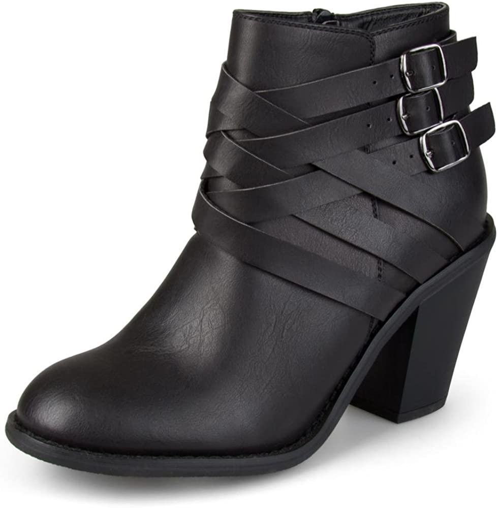 Journee Collection Women's Multi Strap Ankle Boots