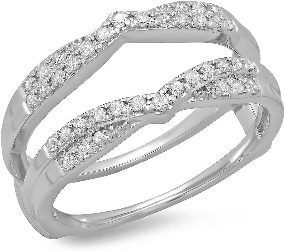 0.33 Carat ctw 14K Gold Round Band 5% Max 47% OFF OFF Wedding Enha Ladies Diamond