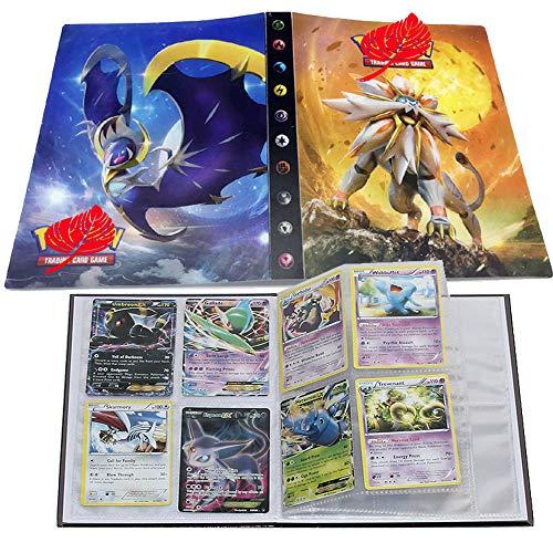 Pokemon Karten Album, Pokemon Karten Halter, Pokemon Ordner für Karten Album Buch Bester Schutz für Pokemon Sammel Karten GX EX Box Solgaleo(Sonne&Mond)
