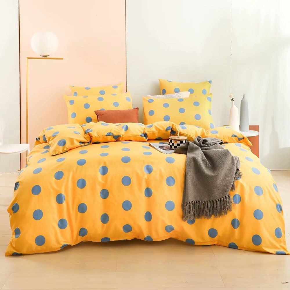 SYDVT Wave Point Yellow Duvet Cover Bedding store Size low-pricing 2p Set Twin