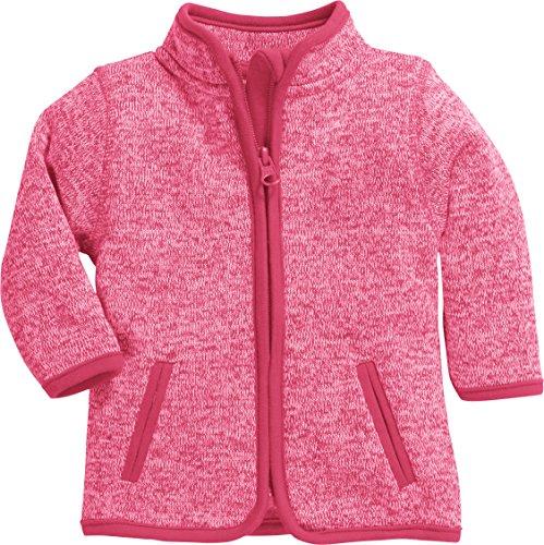Schnizler Unisex Baby-Jacke aus Fleece, atmungsaktives und hochwertiges Jäckchen mit Reißverschluss, Rosa (Pink 18), 56