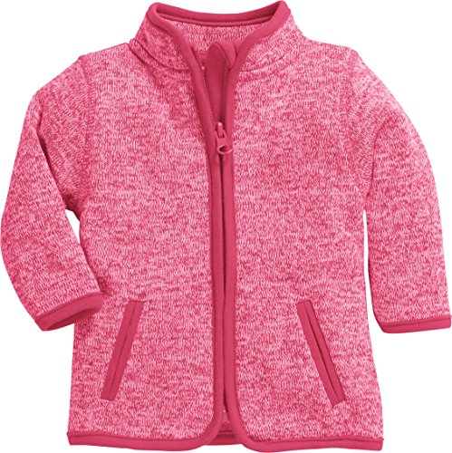 Schnizler Strick-Fleece-Jacke Blouson, Rose (Pink 18), 56 Mixte bébé