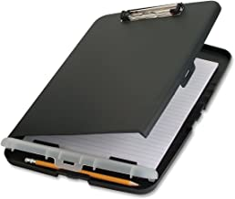 Officemate Slim Clipboard Storage Box, Charcoal (83303)