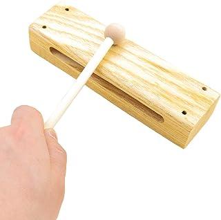 سازهای کوبه ای Heatoe Wood ، بلوک های موسیقی با چوب پتک ، Timber Drum Rhythm Blocks Hardwood کوبه ای برای مبتدیان و متخصصان