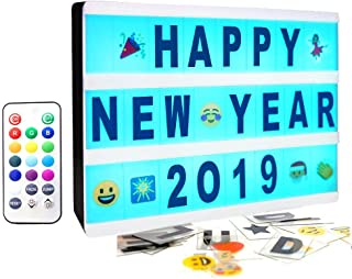 SUOMEI Color Changing Cinematic Light Box- A5 Magnetic Mini Cinema Light Up Sign with 160 Letters Numbers and Symbols, Personalized 13 Colored LED Lightbox for Home Decor,Wedding,Birthday Parties