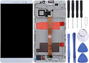Leya LCD Screen Parts for Huawei Mate 8 LCD Screen and Digitizer Full Assembly with Frame(Black) (Color : White)