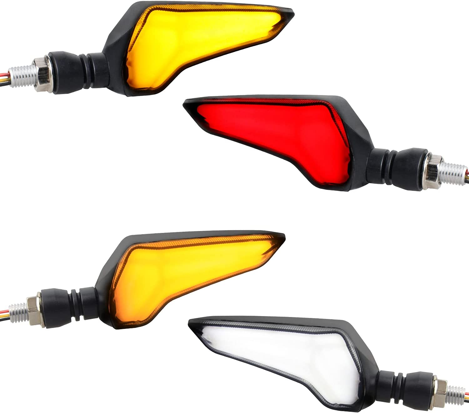 NTHREEAUTO 4PCS LED Turn Indicators Signals OFFer Universal Motorcycle NEW before selling ☆