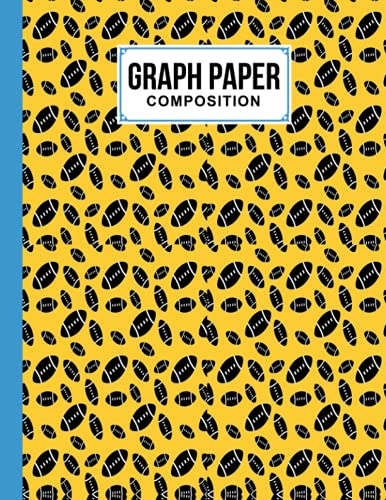 """Graph Paper Composition Notebook: Grid Paper Notebook, Quad Ruled With Rugby Cover Design 