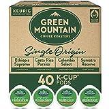 Keurig Green Mountain Coffee Roasters Single Origin Collection Variety Pack, Single-Serve Keurig K-Cup Pods, 40 Count