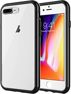 JETech Case for iPhone 8 Plus and iPhone 7 Plus 5.5-Inch, Shock-Absorption Bumper Cover, Anti-Scratch Clear Back, Black