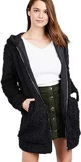 Womens Premium Quality Open Front Sherpa Fleece Faux Fur Vest & Long Sleeve with Hoodie (Regular & Plus Size)